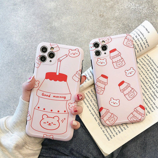Sweet Milk Phone Case for iphone 7/7plus/8/8P/X/XS/XR/XS Max/11/11pro/11pro max PN2647