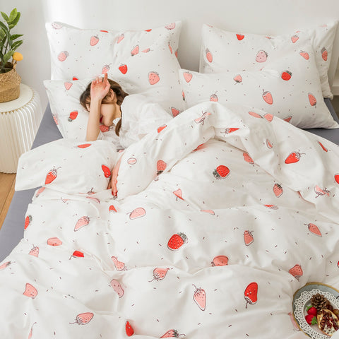Cute Strawberry Bedding Set PN3148