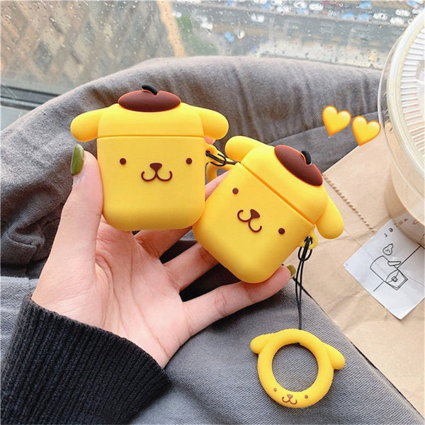 Pom Pom Purin Airpods Case For Iphone PN1142