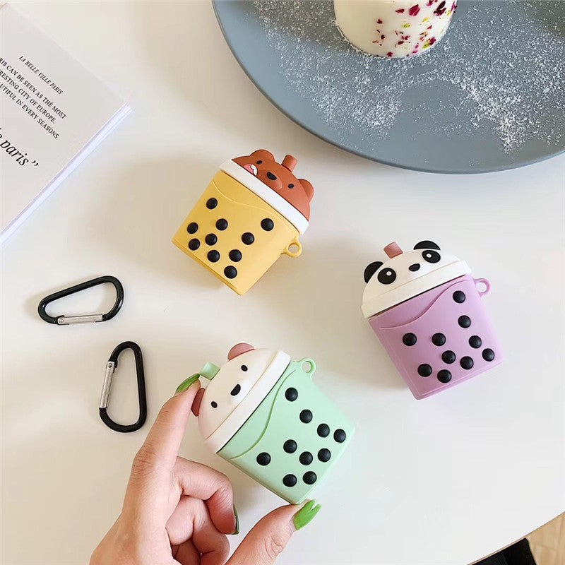 Bubble Tea Bear Airpods Case For Iphone PN1476