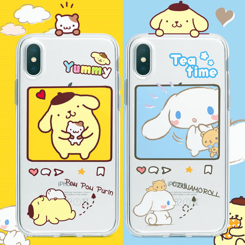 Lovely Cinnamoroll Phone Case for iphone 7/7plus/8/8P/X/XS/XR/XS Max/11/11pro/11pro max PN2488
