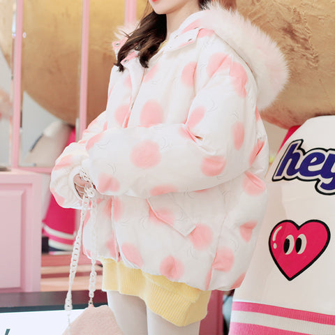 Sweet Peach Winter Coat PN3550