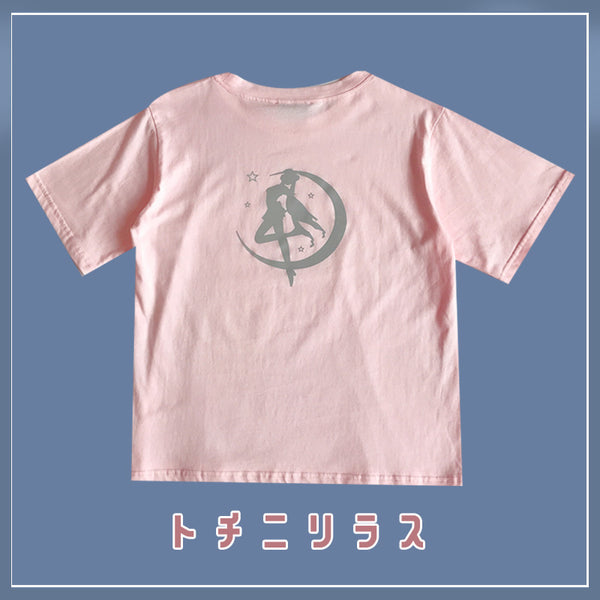 Fashion Reflective Sailormoon T-shirt PN2677