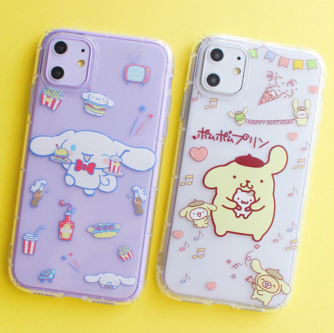Cute Cinnamoroll Phone Case for iphone 7/7plus/8/8P/X/XS/XR/XS Max/11/11pro/11pro max PN1958