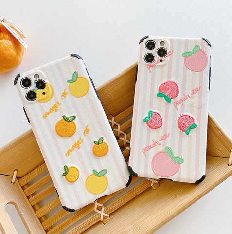 Peach and Orange Phone Case for iphone 7/7plus/8/8P/SE/X/XS/XR/XS Max/11/11pro/11pro max PN3192