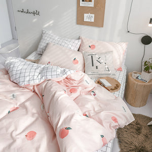 Fashion Peach Bedding Set PN2572