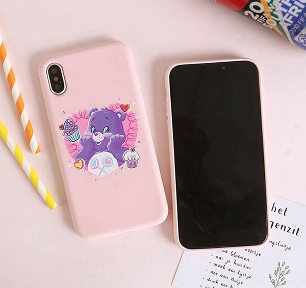 Colorful Bear Phone Case for iphone 6/6s/6plus/7/7plus/8/8P/X/XS/XR/XS Max/11/11pro/11pro max PN2108