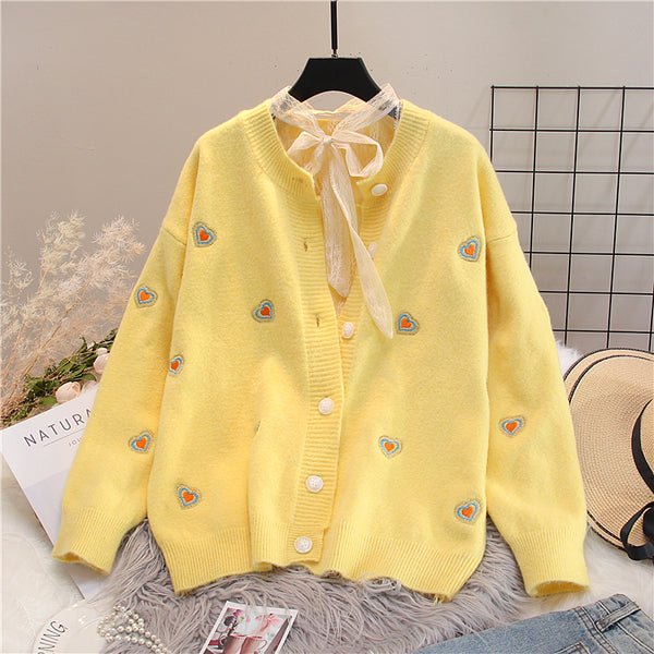 Cute Heart Sweater Coat PN3771