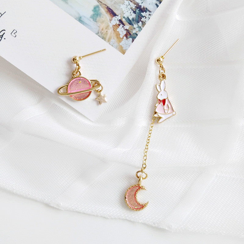 Rabbit And Moon Earrings/Clips PN1531