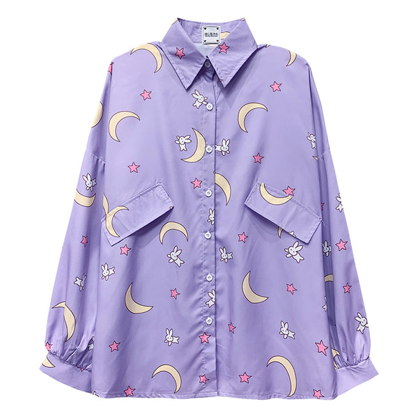 Fashion Moon Long Sleeve Shirt PN2687