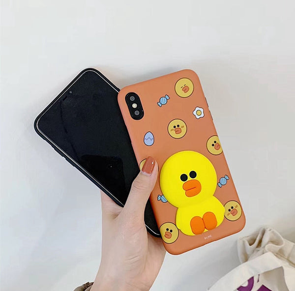 Cartoon Brown and Cony Phone Case for iphone 6/6s/6plus/7/7plus/8/8P/X/XS/XR/XS Max PN1678