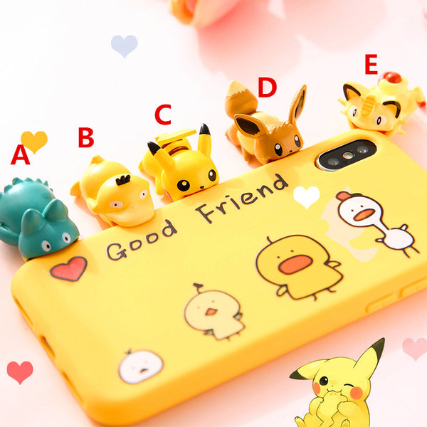 Cute Pikachu And Cartoon Charging Cable Cover For Iphone PN0781