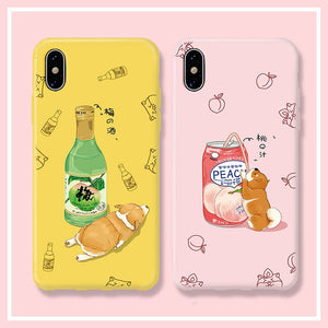 Cute Shiba Phone Case for iphone 6/6s/6plus/7/7plus/8/8P/X/XS/XR/XS Max/11/11pro/11pro max PN2074
