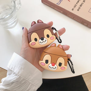 Cartoon Squirrel Airpods Case For Iphone PN1510