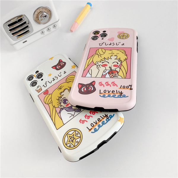 Kawaii Sailormoon Phone Case for iphone 7/7plus/8/8P/X/XS/XR/XS Max/11/11pro/11pro max PN2671