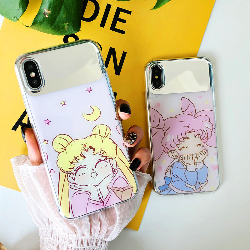 Kawaii Usagi Mirror Phone Case for iphone 6/6s/6plus/7/7plus/8/8P/X/XS/XR/XS Max/11/11pro/11pro max PN1162