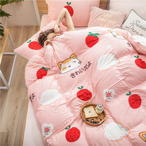 Cute Strawberry Bedding Set PN2873