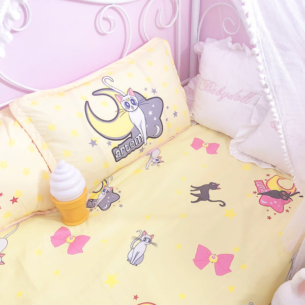 Cute Luna And Artemis Bedding Set PN1390