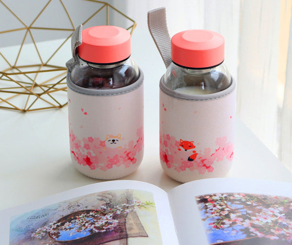 Sakura Glass Water Bottle PN1765