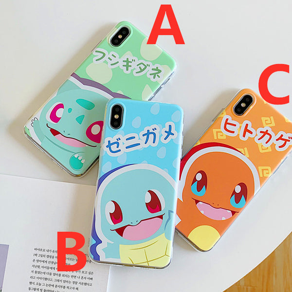 Cartoon Jigglypuff and Squirtle Phone Case for iphone 6/6s/6plus/7/7plus/8/8P/X/XS/XR/XS Max PN1604