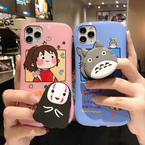 Cartoon Totoro Phone Case for iphone 7/7plus/8/8P/X/XS/XR/XS Max/11/11pro/11pro max PN2726