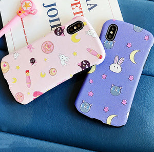 Cute Luna Phone Case for iphone 6/6s/6plus/7/7plus/8/8P/X/XS/XR/XS Max/11/11pro/11pro max PN2393