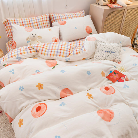 Kawaii Peach Bedding Set PN3279