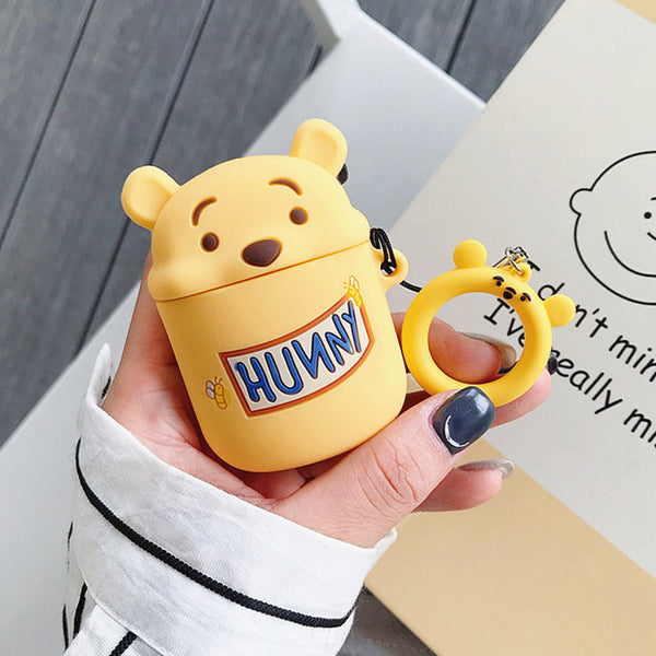 Cute Bear Airpods Case For Iphone PN1343