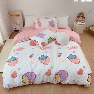 Kawaii Strawberry Bedding Set PN3651