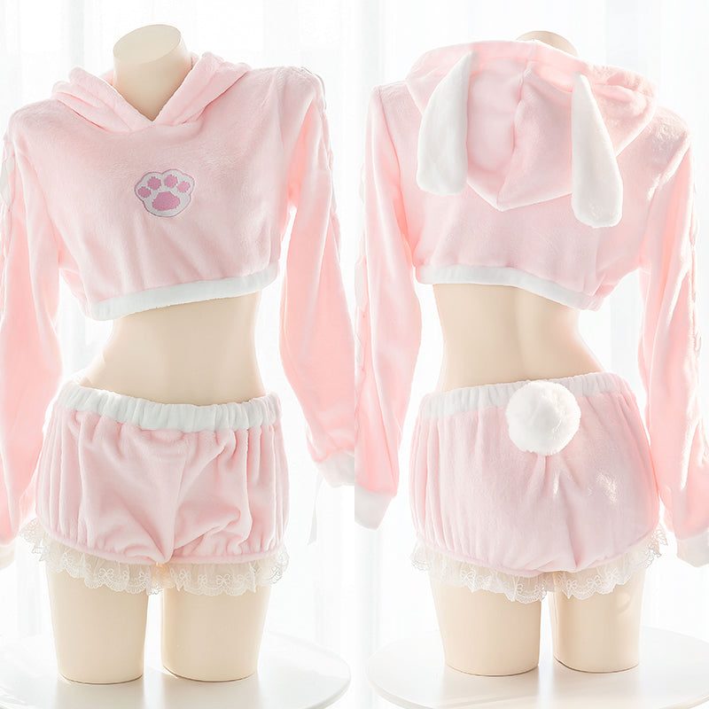 Lovely Rabbit Ears Pajamas Suits Set PN2883