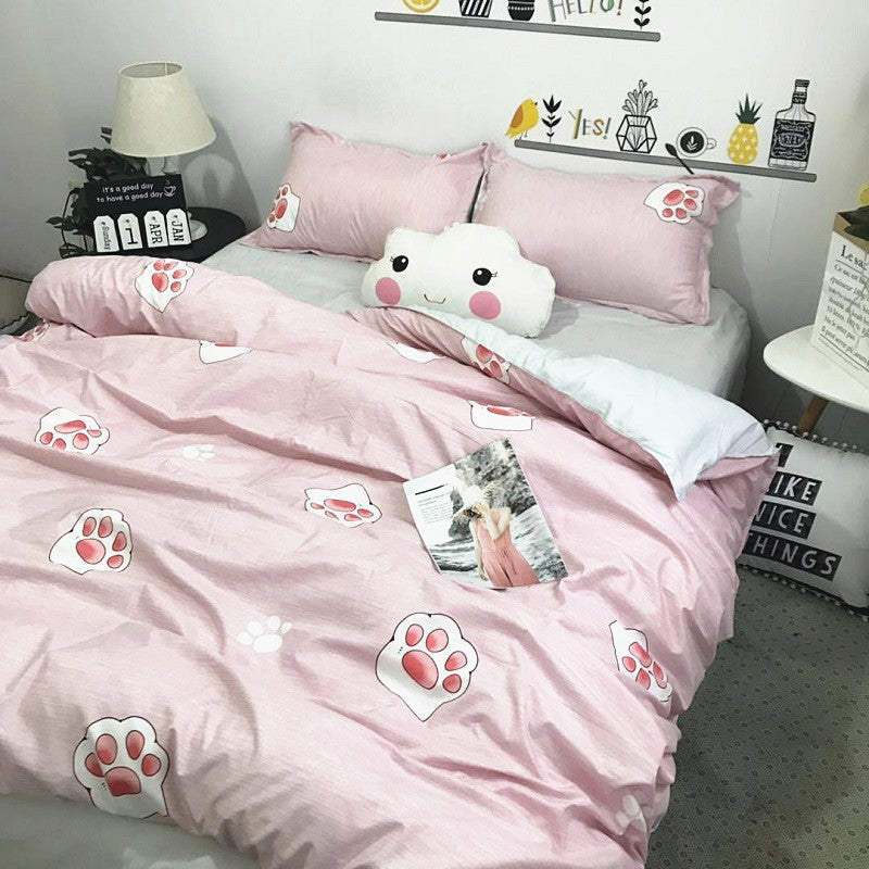 Kawaii Cats Paw Bedding Set PN2552