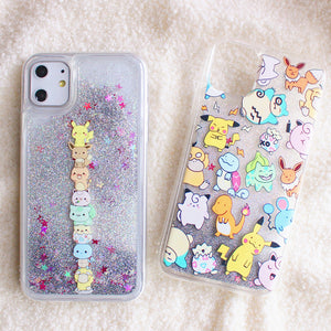 Pokemon Quicksand Phone Case for iphone 7/7plus/8/8P/X/XS/XR/XS Max/11/11pro/11pro max PN2196