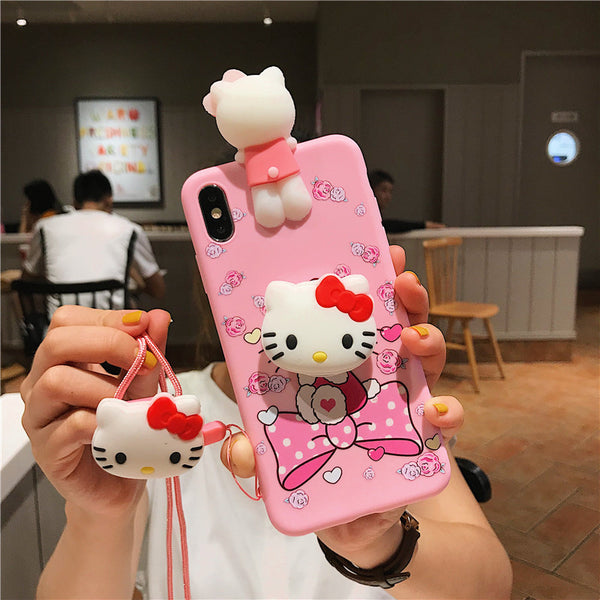Hello Kitty Phone Case for iphone 6/6s/6plus/7/7plus/8/8P/X/XS/XR/XS Max/11/11pro/11pro max PN2182