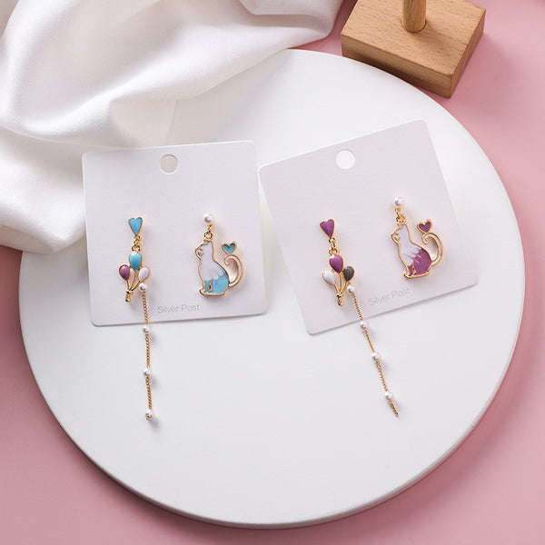 Sweet Cat Pearl Earrings PN1841