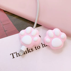 Lovely Cats Paw Charging Cable Cover For Iphone PN1200