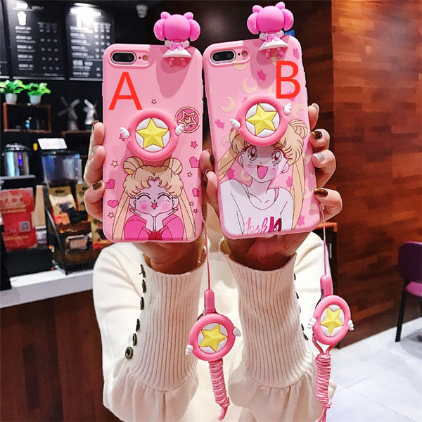 Pink Usagi Phone Case for huawei P10/P10plus/P20/P20Ppro/P20lite/P30/P30pro PN1143