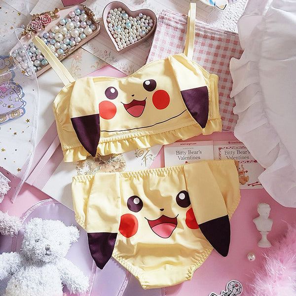 Cartoon Pikachu Underwear Suits PN2495