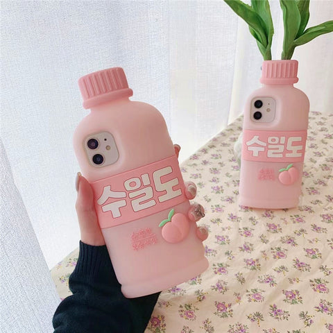 Sweet Peach Milk Phone Case for iphone 6/6s/6plus/7/7plus/8/8P/X/XS/XR/XS Max/11/11pro/11pro max/12/12pro/12mini/12pro max PN3800