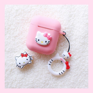 Pink Cat Airpods Wire Protector And Case For Iphone PN1182