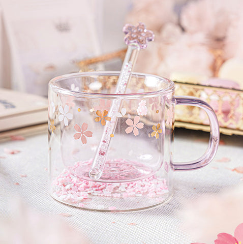 Fashion Sakura Glass Water Cup Set PN3695