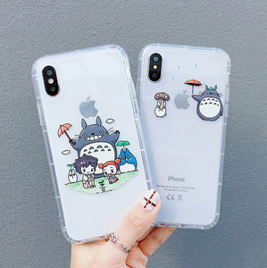 Cute Totoro Phone Case for iphone 6/6s/6plus/7/7plus/8/8P/X/XS/XR/XS Max/11/11pro/11pro max PN2235