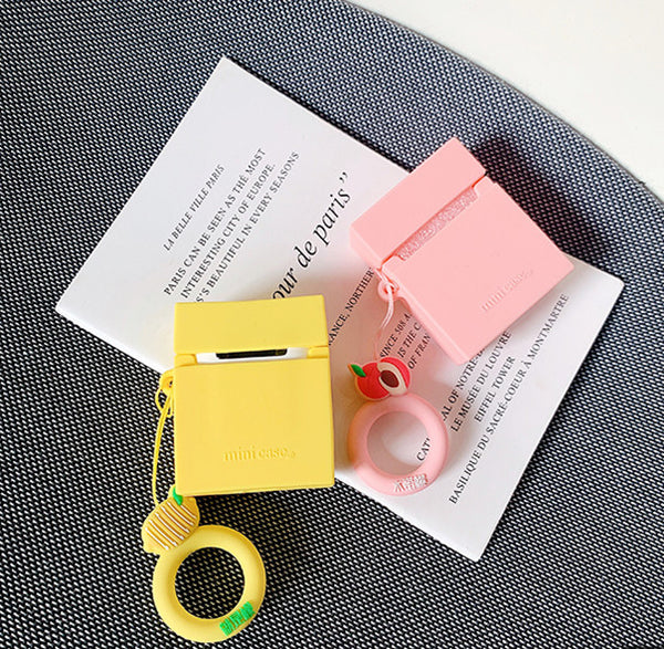 Lemon and Peach Airpods Case For Iphone PN1960