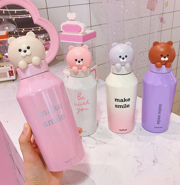 Cute Bear Vacuum Water Bottle PN1320