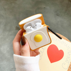 Kawaii Poached Egg Airpods Case For Iphone PN1363