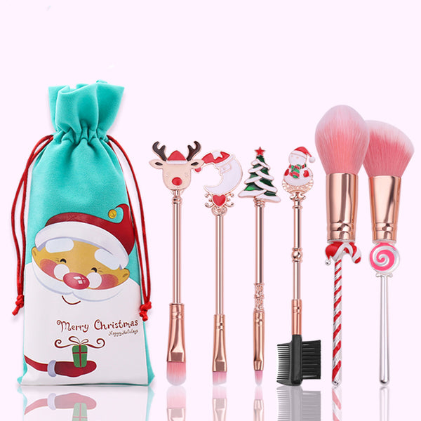Merry Christmas Make Up Brush Set PN2198