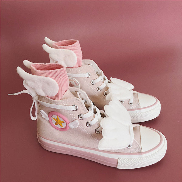 Fashion Sakura Canvas Shoes And Socks PN1963