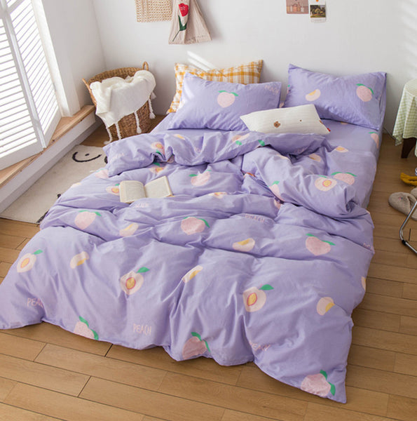 Fashion Purple Peach Bedding Set PN2692