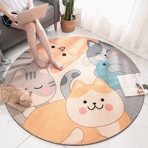 Lovely Cats Round Mat PN3159