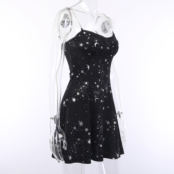Dark Moon and Stars Dress PN1194
