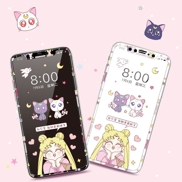 Sailormoon Usagi Phone Tempered Film for iphone X/XS/XR/XS Max/11/11pro/11pro max PN2338